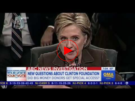 ABC: State Dept access given to Clinton Foundation donors precisely what she said she would not do
